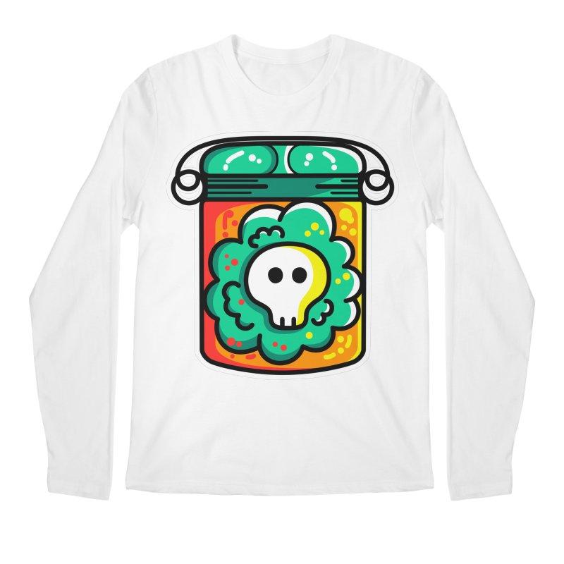 Cute Skull In A Jar Men's Regular Longsleeve T-Shirt by Flaming Imp's Artist Shop