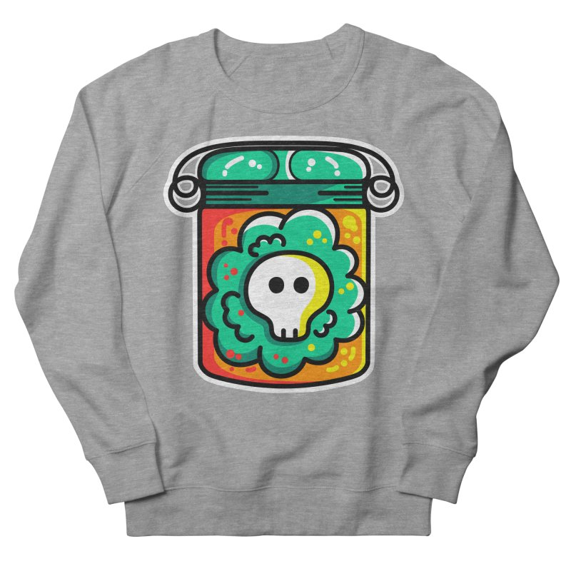 Cute Skull In A Jar Men's French Terry Sweatshirt by Flaming Imp's Artist Shop