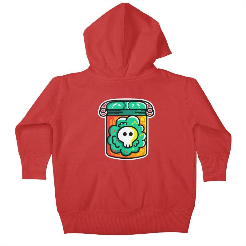 Cute Skull In A Jar Kids Baby Zip-Up Hoody by Flaming Imp's Artist Shop