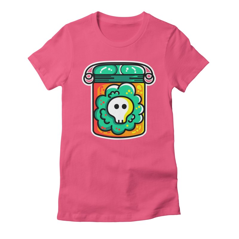 Cute Skull In A Jar Women's Fitted T-Shirt by Flaming Imp's Artist Shop