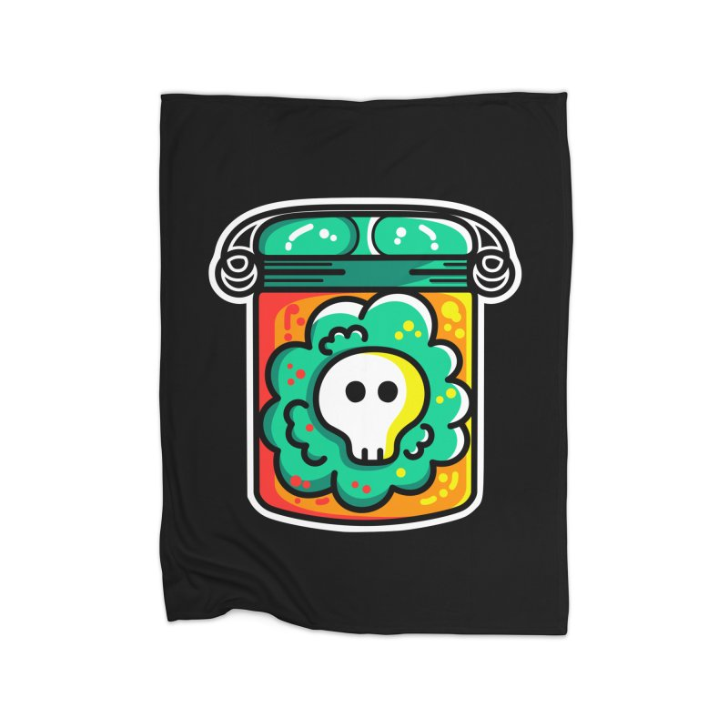 Cute Skull In A Jar Home Blanket by Flaming Imp's Artist Shop