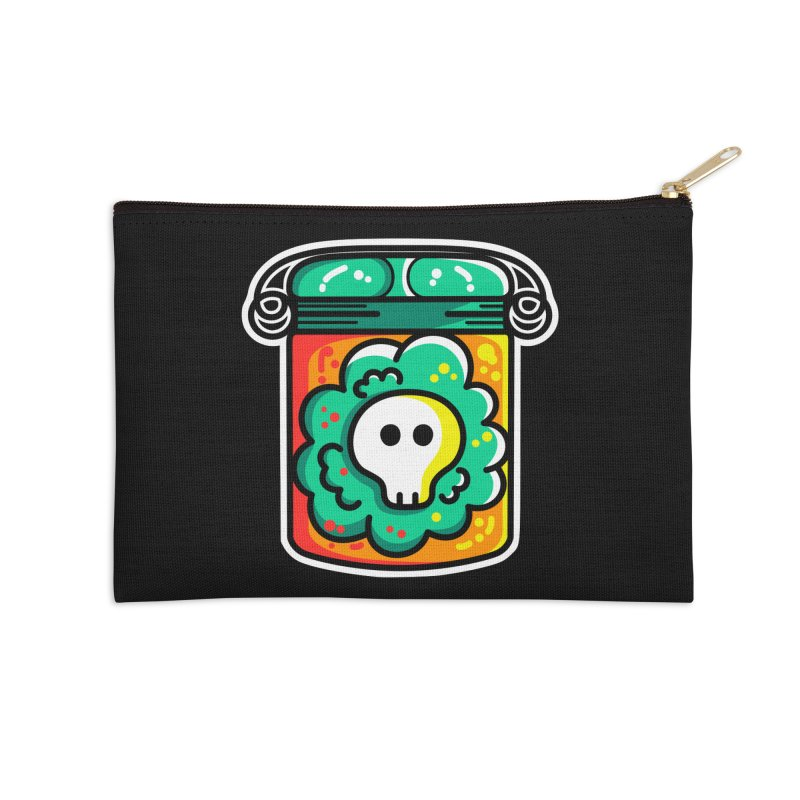 Cute Skull In A Jar Accessories Zip Pouch by Flaming Imp's Artist Shop