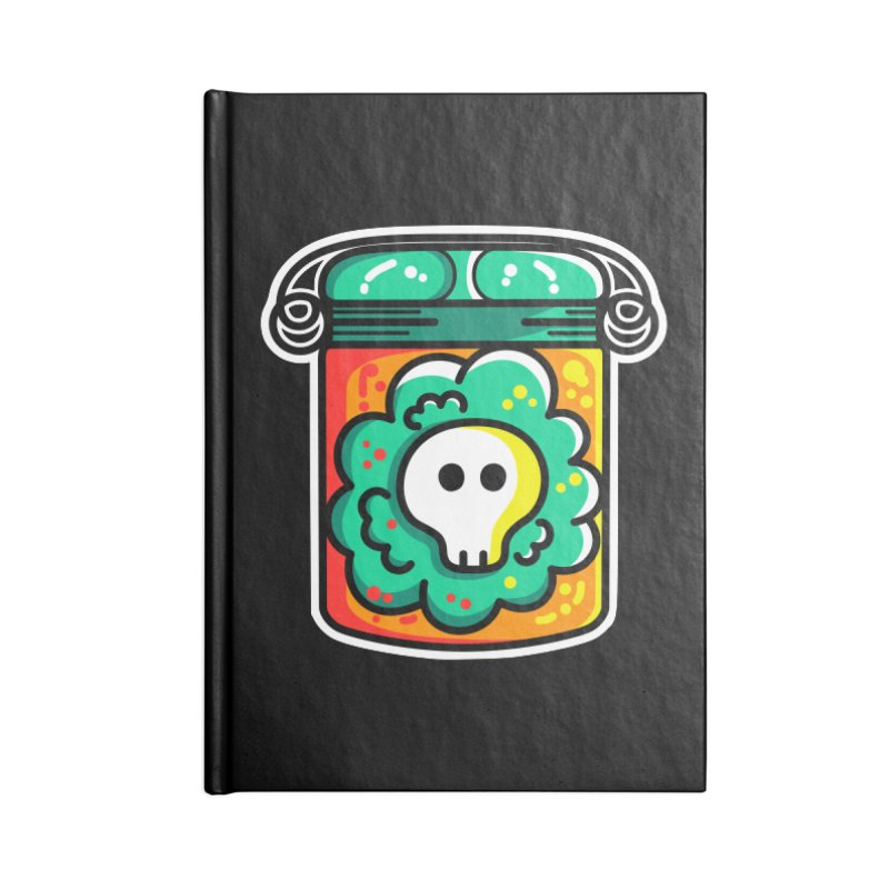 Cute Skull In A Jar Accessories Notebook by Flaming Imp's Artist Shop