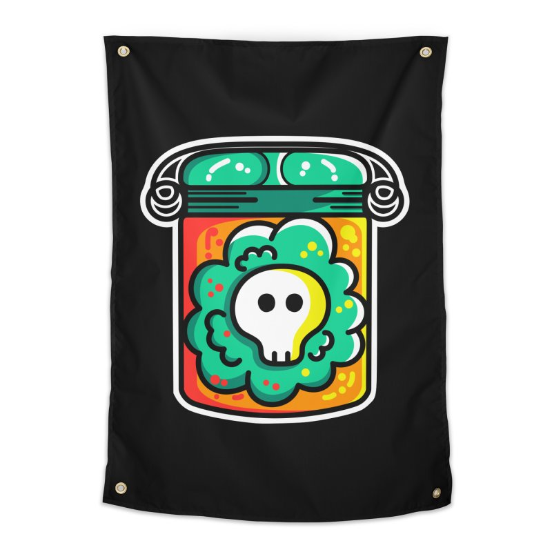Cute Skull In A Jar Home Tapestry by Flaming Imp's Artist Shop