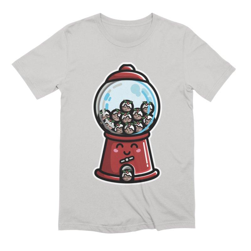 Kawaii Cute Christmas Pudding Gumball Machine Men's Extra Soft T-Shirt by Flaming Imp's Artist Shop