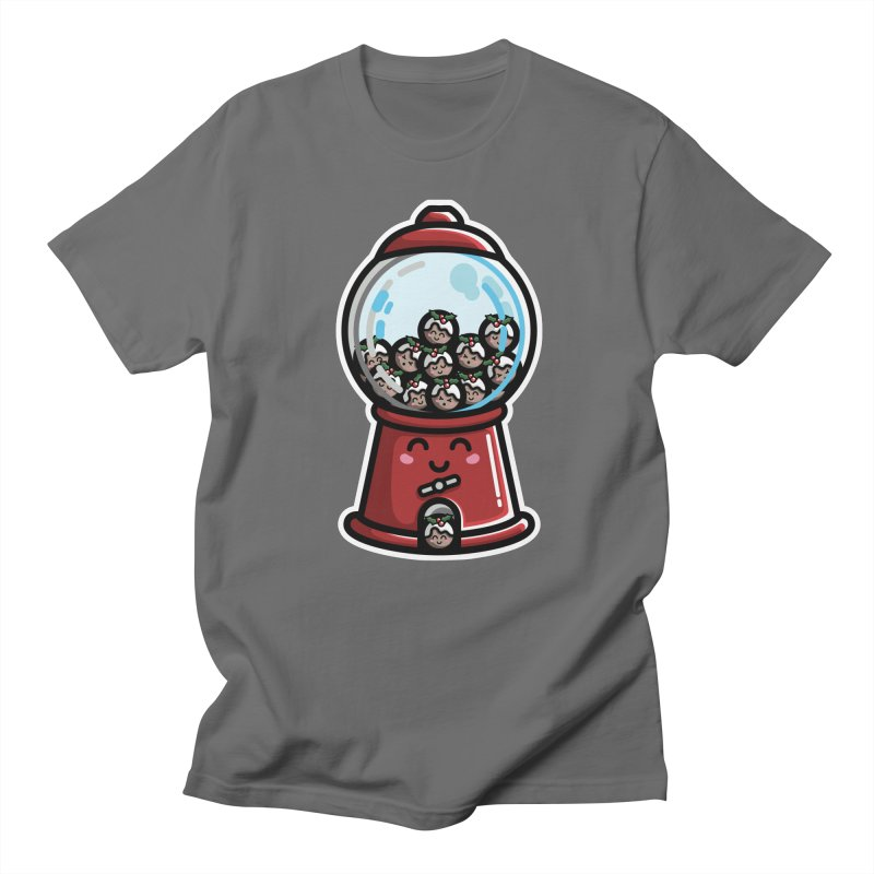Kawaii Cute Christmas Pudding Gumball Machine Men's T-Shirt by Flaming Imp's Artist Shop