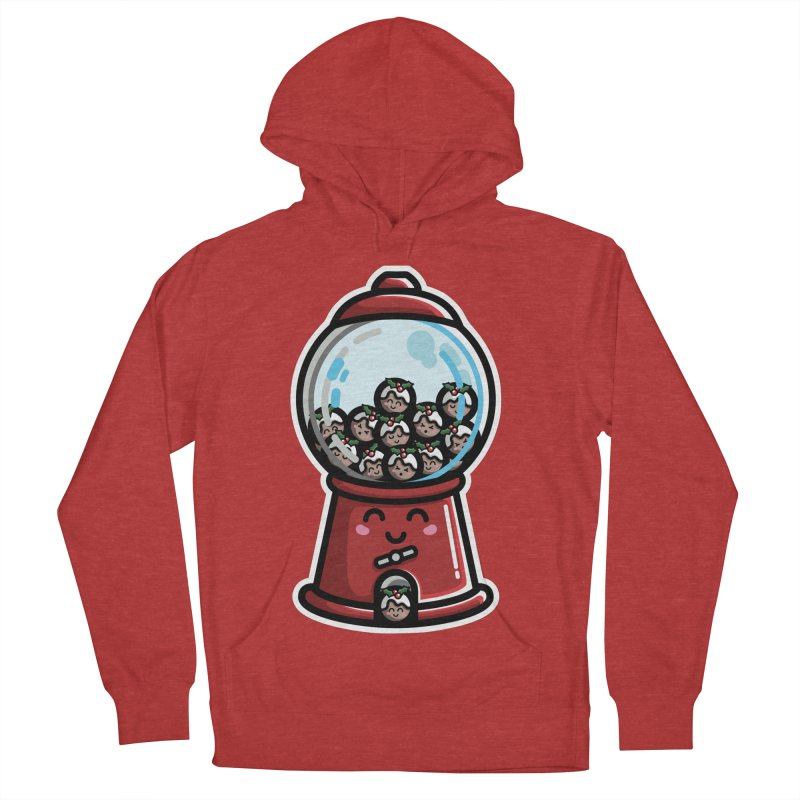 Kawaii Cute Christmas Pudding Gumball Machine Women's French Terry Pullover Hoody by Flaming Imp's Artist Shop