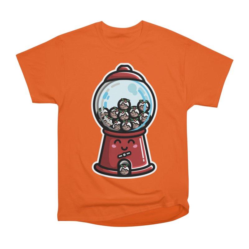Kawaii Cute Christmas Pudding Gumball Machine Women's Heavyweight Unisex T-Shirt by Flaming Imp's Artist Shop