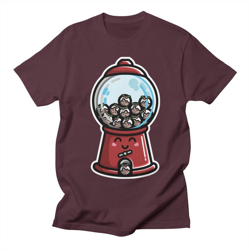 Kawaii Cute Christmas Pudding Gumball Machine Women's Regular Unisex T-Shirt by Flaming Imp's Artist Shop