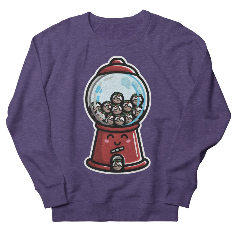Kawaii Cute Christmas Pudding Gumball Machine Men's French Terry Sweatshirt by Flaming Imp's Artist Shop