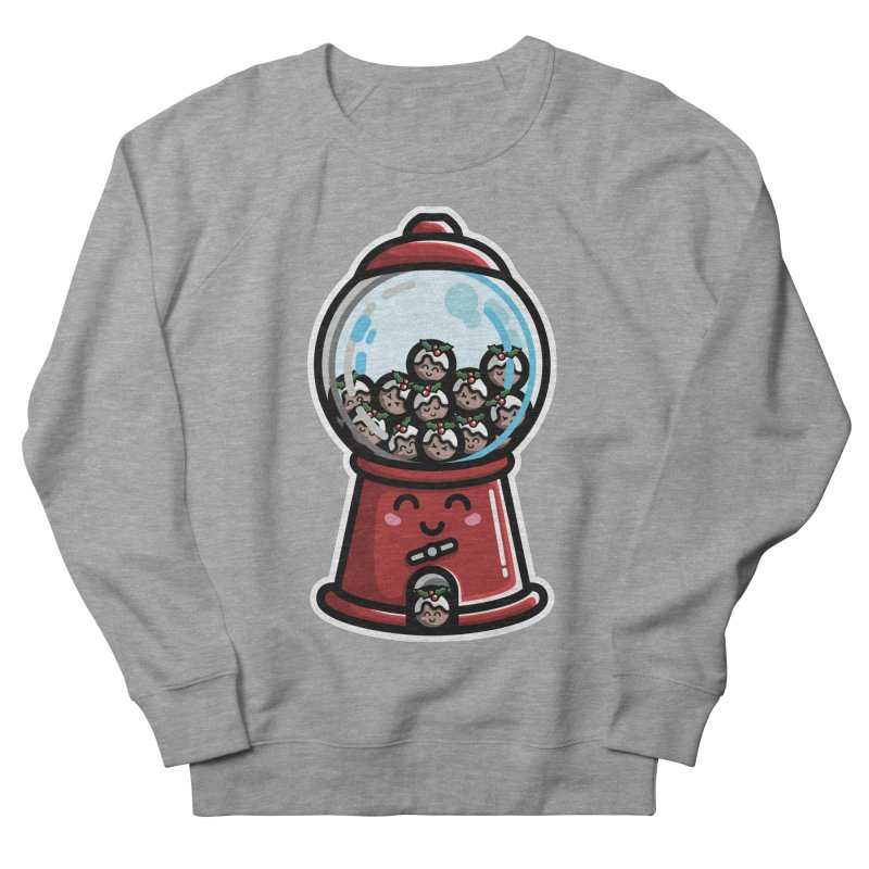 Kawaii Cute Christmas Pudding Gumball Machine Men's French Terry Sweatshirt by Flaming Imp's Artist Shop
