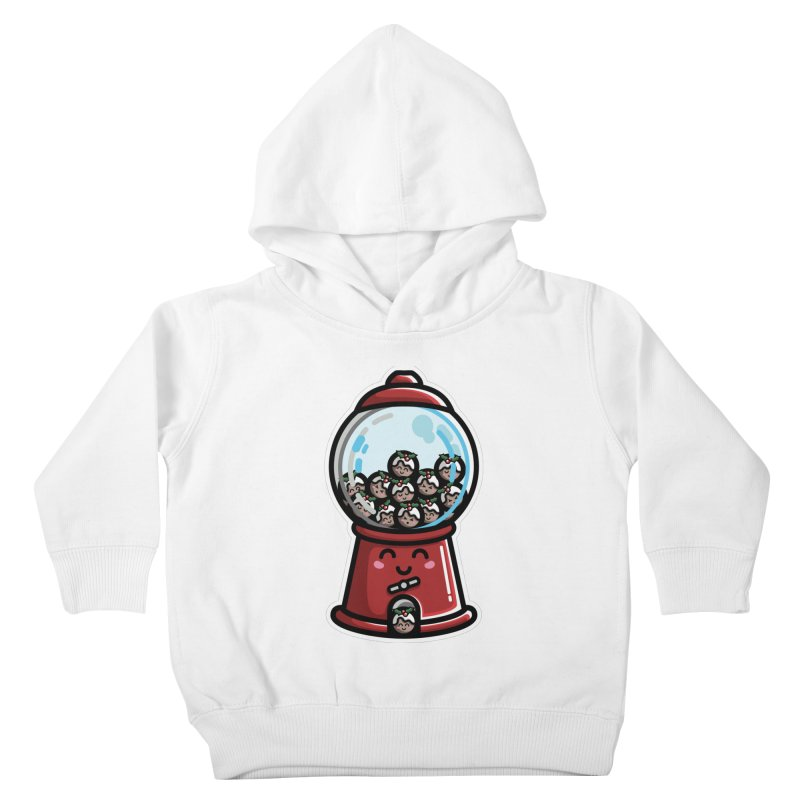 Kawaii Cute Christmas Pudding Gumball Machine Kids Toddler Pullover Hoody by Flaming Imp's Artist Shop