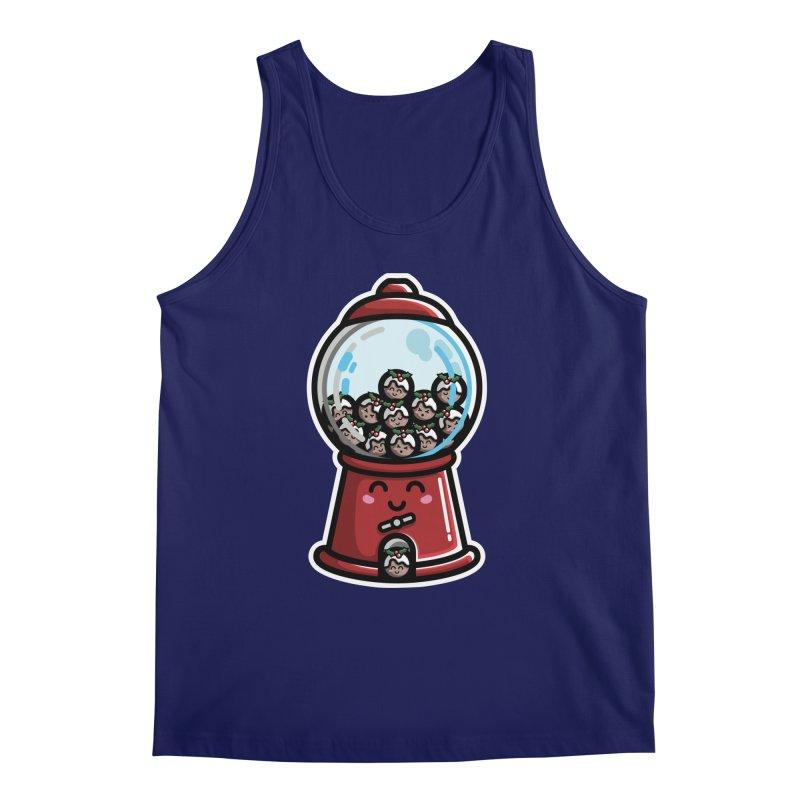 Kawaii Cute Christmas Pudding Gumball Machine Men's Regular Tank by Flaming Imp's Artist Shop