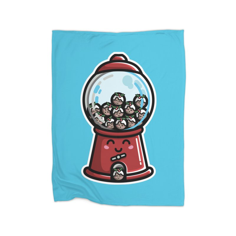 Kawaii Cute Christmas Pudding Gumball Machine Home Blanket by Flaming Imp's Artist Shop