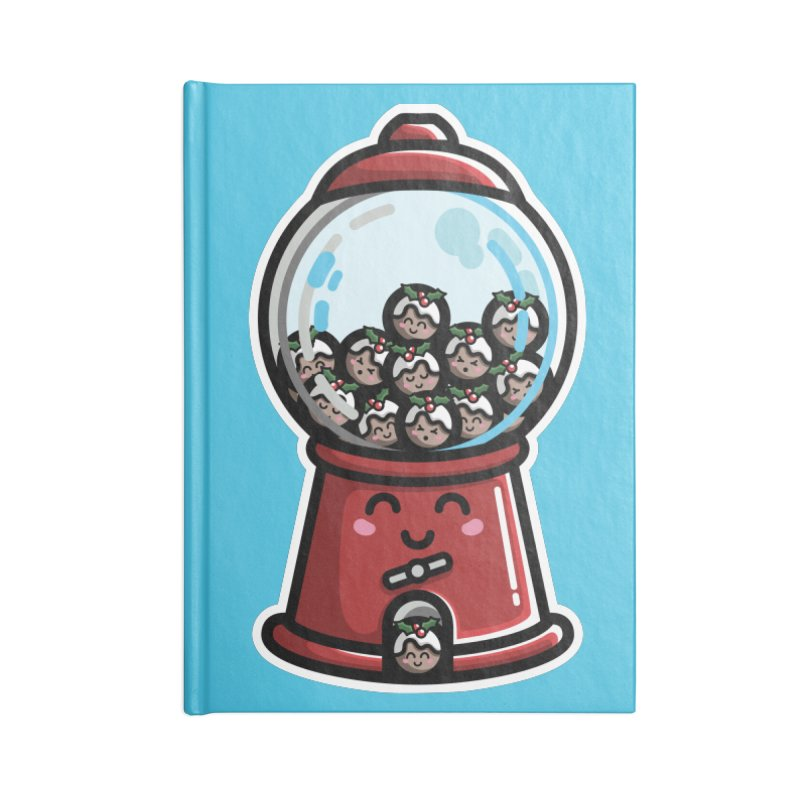 Kawaii Cute Christmas Pudding Gumball Machine Accessories Notebook by Flaming Imp's Artist Shop
