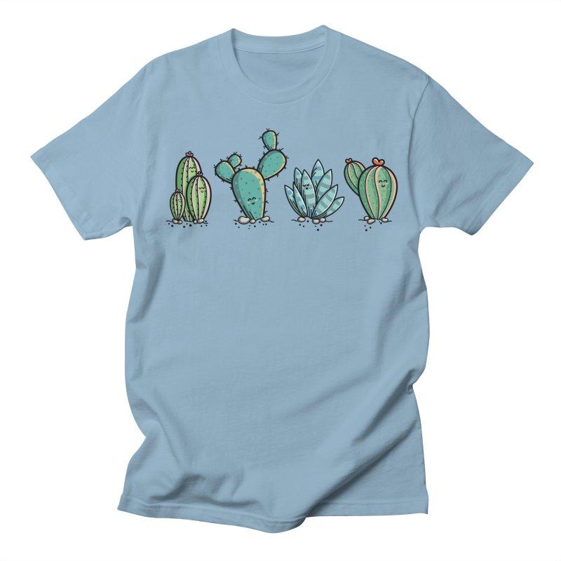 Kawaii Cute Cacti Desert Plants Women's Regular Unisex T-Shirt by Flaming Imp's Artist Shop