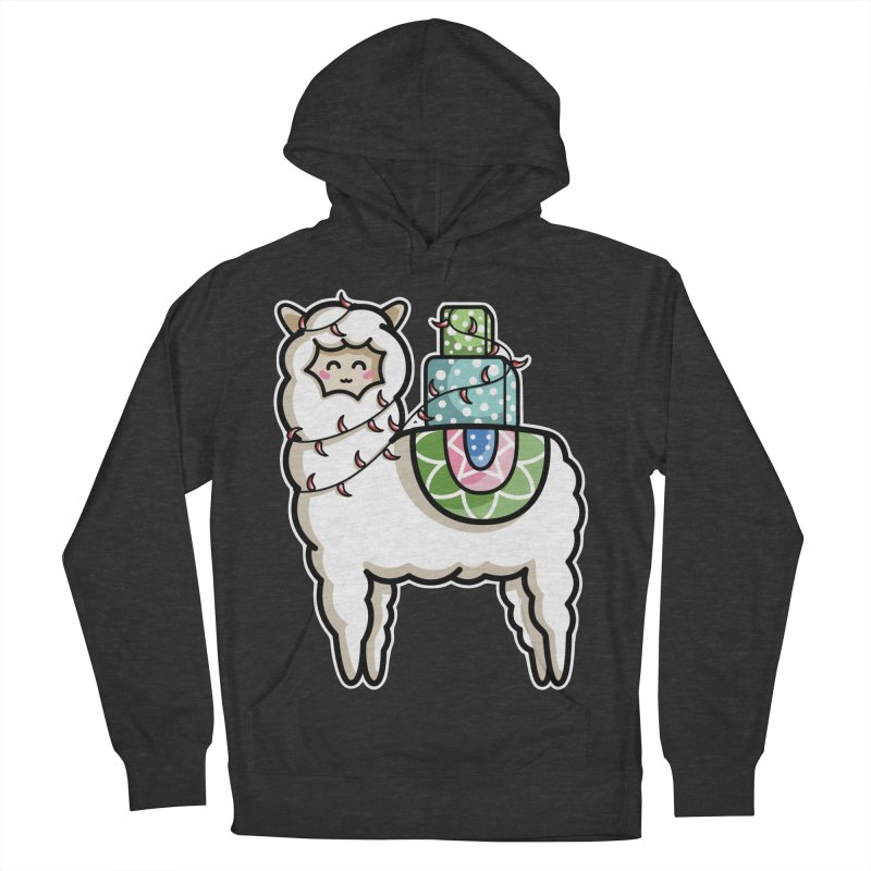 Kawaii Cute Gift Carrying Llama Women's French Terry Pullover Hoody by Flaming Imp's Artist Shop