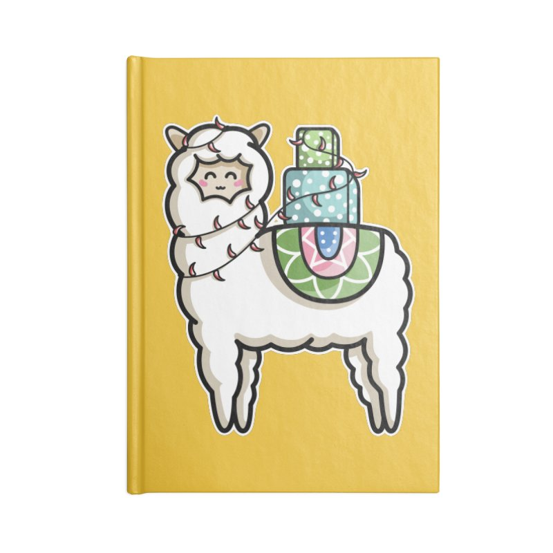 Kawaii Cute Gift Carrying Llama Accessories Notebook by Flaming Imp's Artist Shop