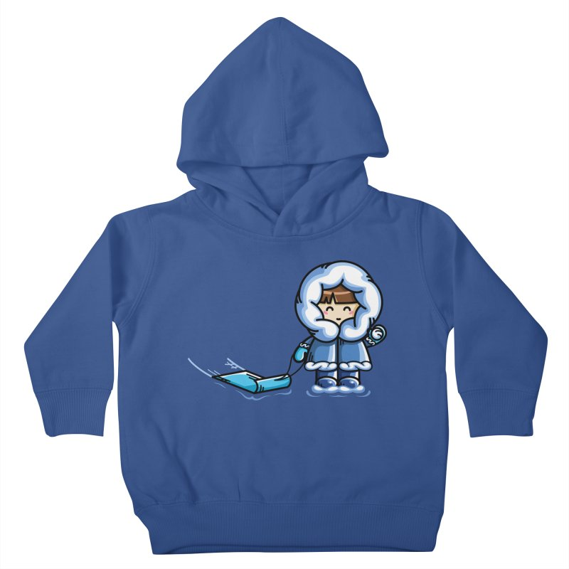 Kawaii Cute Fun In The Snow Kids Toddler Pullover Hoody by Flaming Imp's Artist Shop