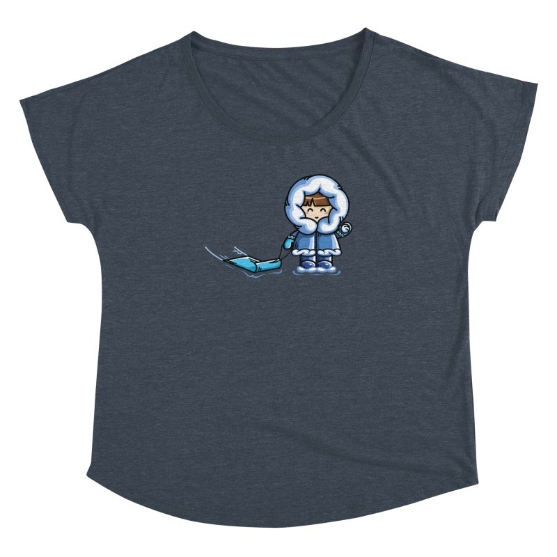 Kawaii Cute Fun In The Snow Women's Dolman Scoop Neck by Flaming Imp's Artist Shop