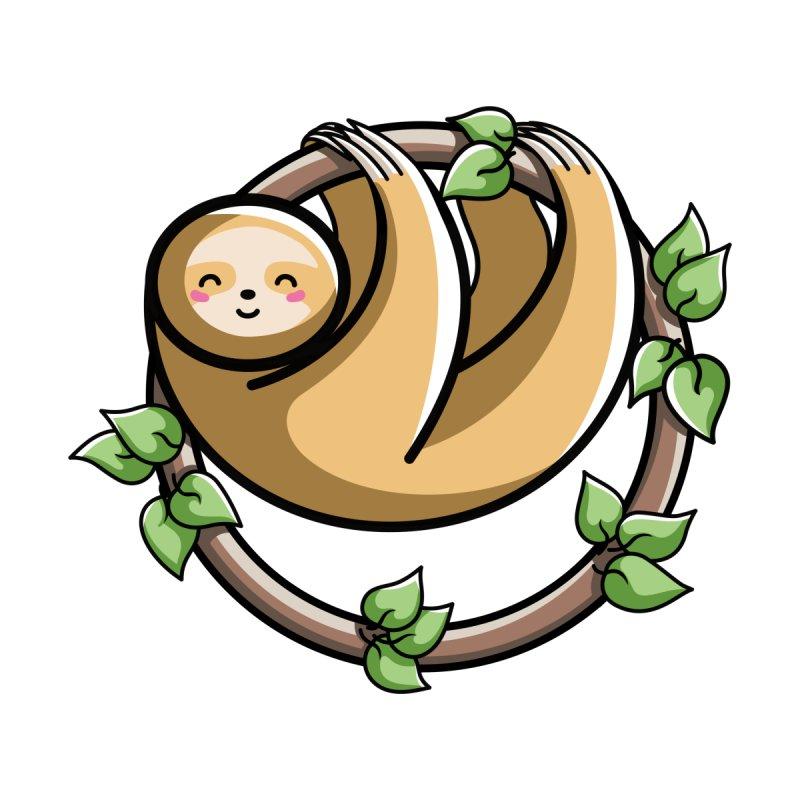 Kawaii Cute Sloth Circle by Flaming Imp's Artist Shop