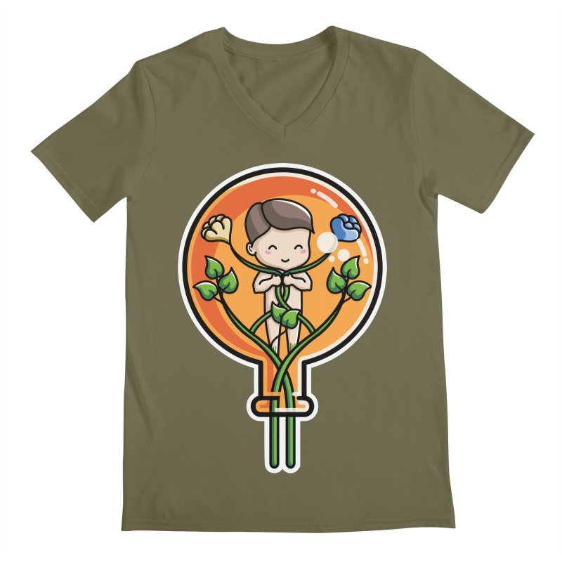 Kawaii Cute Alchemical Child Men's Regular V-Neck by Flaming Imp's Artist Shop