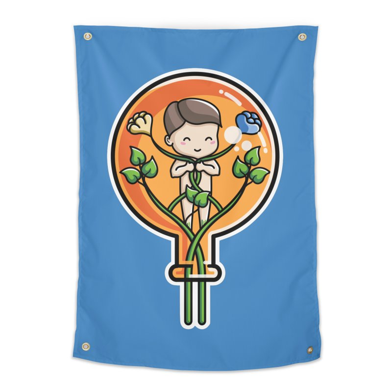 Kawaii Cute Alchemical Child Home Tapestry by Flaming Imp's Artist Shop