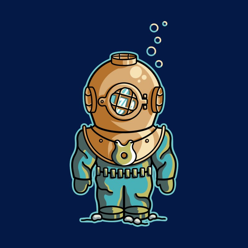Cute Deep Sea Diver by Flaming Imp's Artist Shop