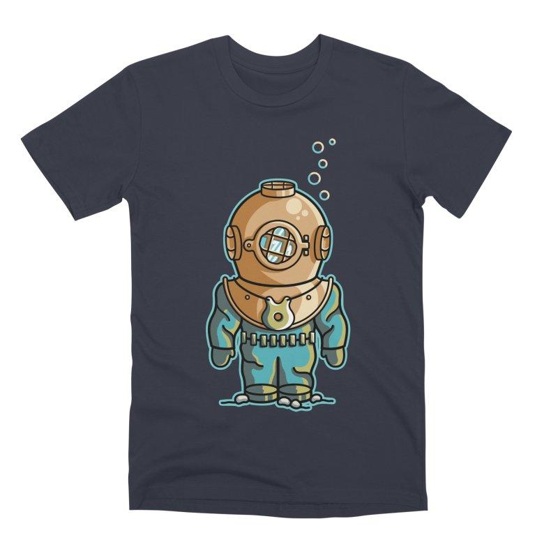 Cute Deep Sea Diver Men's Premium T-Shirt by Flaming Imp's Artist Shop