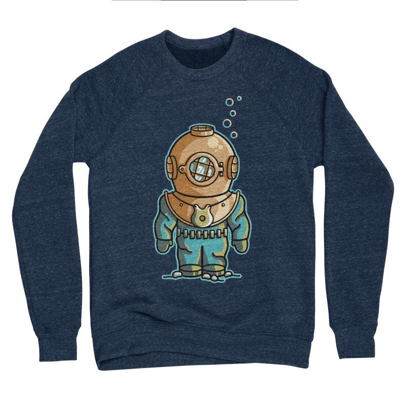 Cute Deep Sea Diver Women's Sponge Fleece Sweatshirt by Flaming Imp's Artist Shop