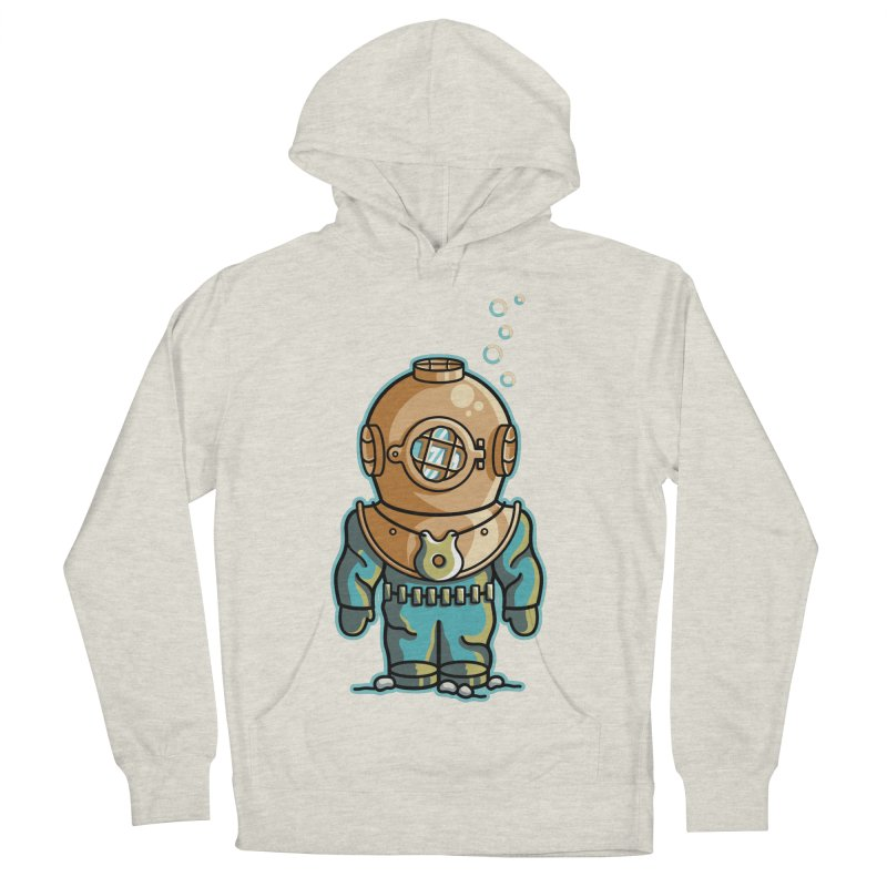Cute Deep Sea Diver Women's French Terry Pullover Hoody by Flaming Imp's Artist Shop