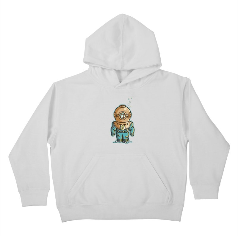 Cute Deep Sea Diver Kids Pullover Hoody by Flaming Imp's Artist Shop