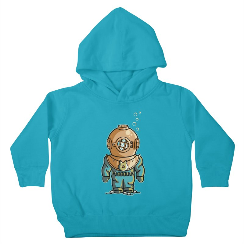 Cute Deep Sea Diver Kids Toddler Pullover Hoody by Flaming Imp's Artist Shop