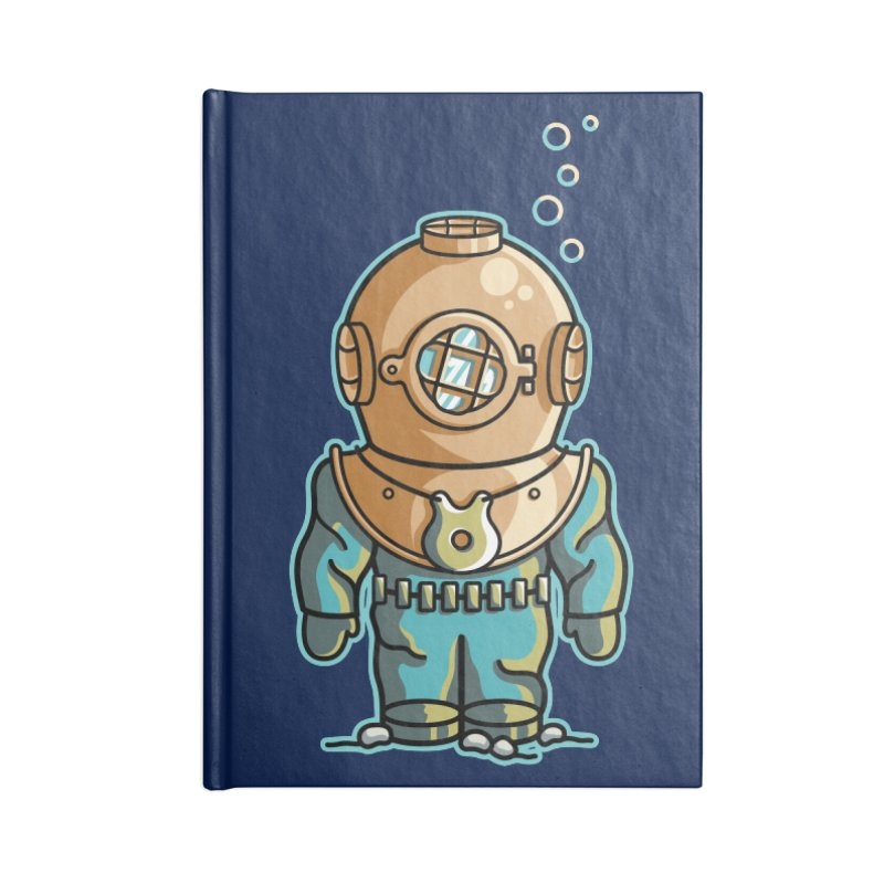 Cute Deep Sea Diver Accessories Blank Journal Notebook by Flaming Imp's Artist Shop