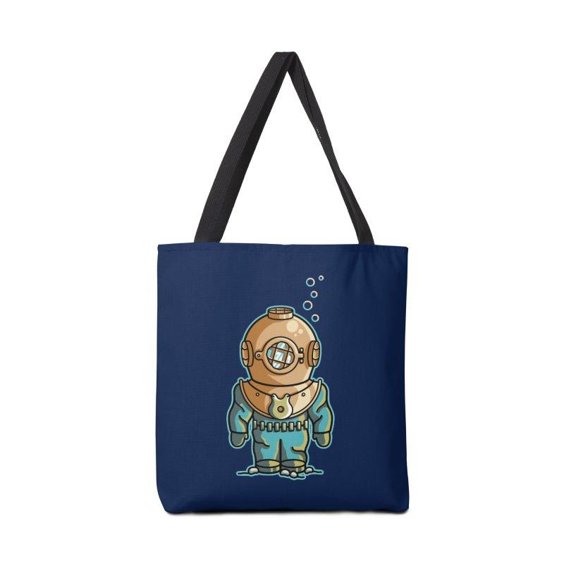 Cute Deep Sea Diver Accessories Tote Bag Bag by Flaming Imp's Artist Shop