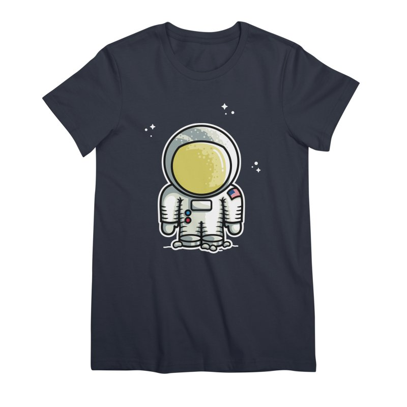 Cute Astronaut Women's Premium T-Shirt by Flaming Imp's Artist Shop