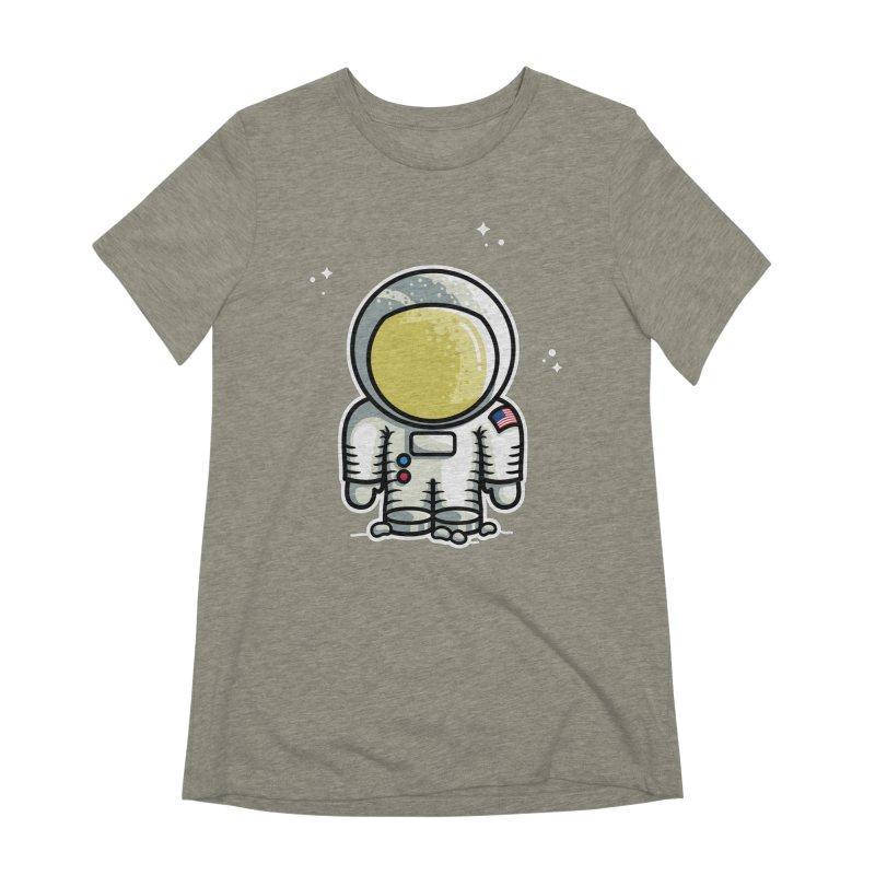 Cute Astronaut Women's Extra Soft T-Shirt by Flaming Imp's Artist Shop