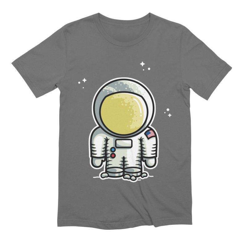 Cute Astronaut Men's Extra Soft T-Shirt by Flaming Imp's Artist Shop
