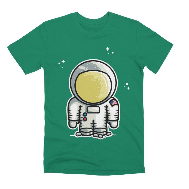 Cute Astronaut Men's Premium T-Shirt by Flaming Imp's Artist Shop