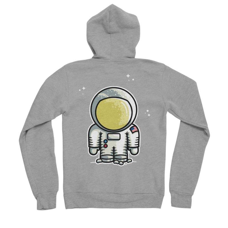 Cute Astronaut Men's Sponge Fleece Zip-Up Hoody by Flaming Imp's Artist Shop