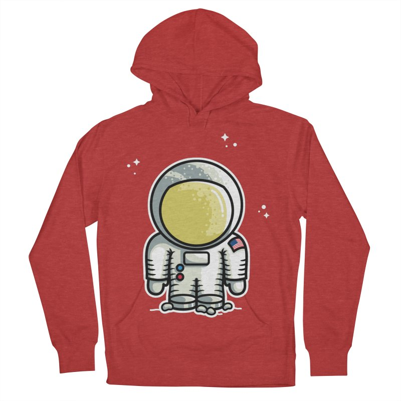 Cute Astronaut Men's French Terry Pullover Hoody by Flaming Imp's Artist Shop