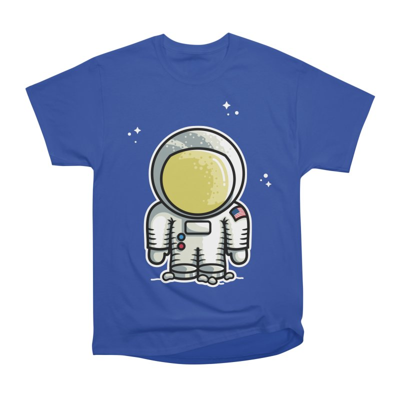 Cute Astronaut Women's Heavyweight Unisex T-Shirt by Flaming Imp's Artist Shop