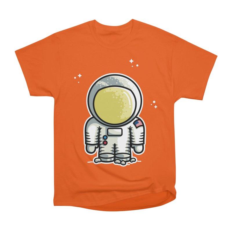 Cute Astronaut Men's Heavyweight T-Shirt by Flaming Imp's Artist Shop