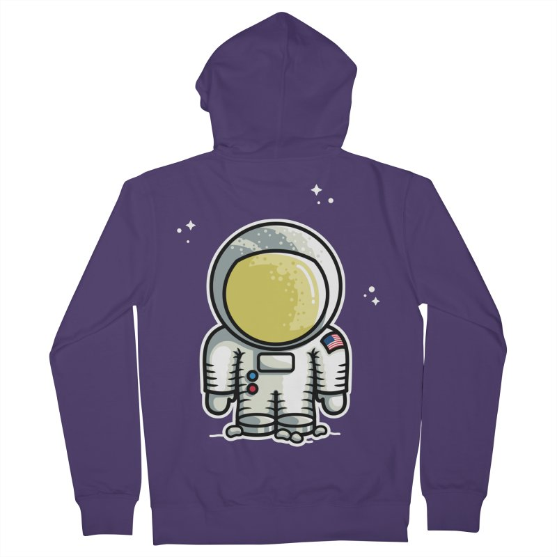 Cute Astronaut Women's French Terry Zip-Up Hoody by Flaming Imp's Artist Shop
