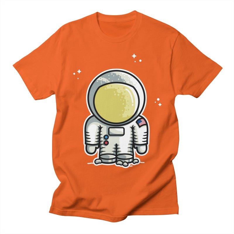 Cute Astronaut Men's Regular T-Shirt by Flaming Imp's Artist Shop