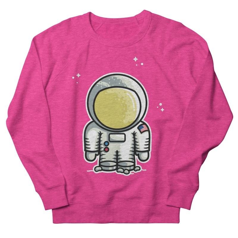 Cute Astronaut Men's French Terry Sweatshirt by Flaming Imp's Artist Shop