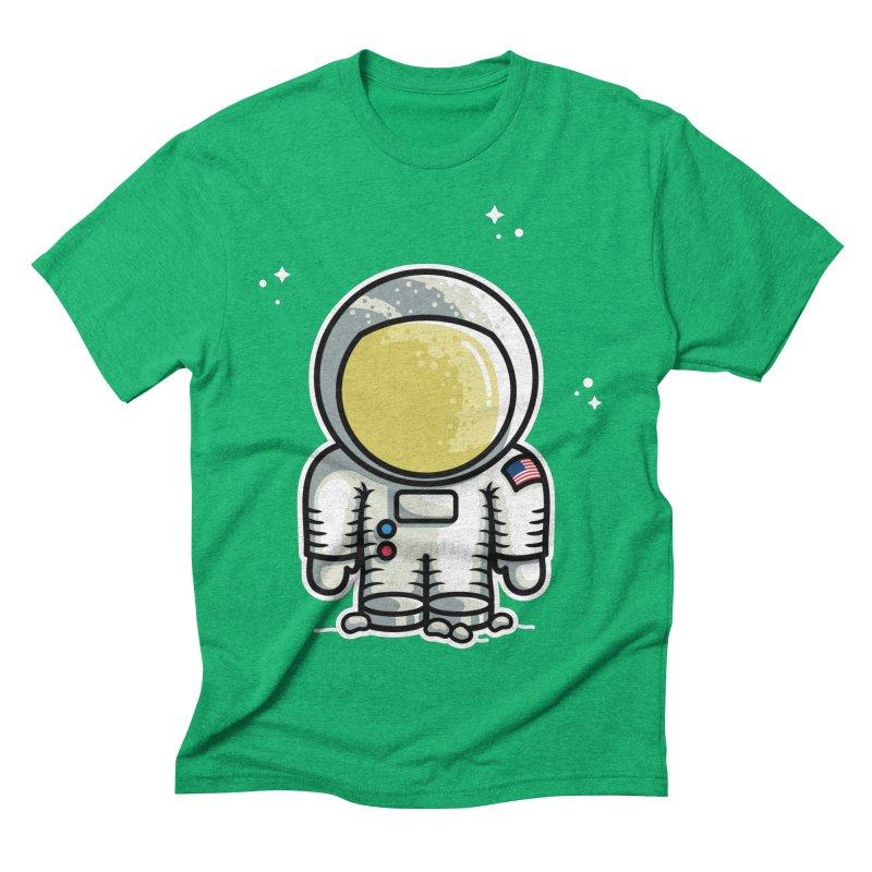 Cute Astronaut Men's Triblend T-Shirt by Flaming Imp's Artist Shop