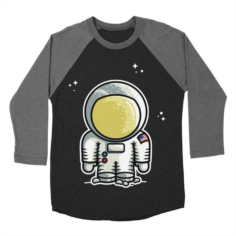 Cute Astronaut Men's Baseball Triblend Longsleeve T-Shirt by Flaming Imp's Artist Shop