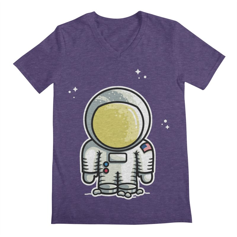 Cute Astronaut Men's Regular V-Neck by Flaming Imp's Artist Shop