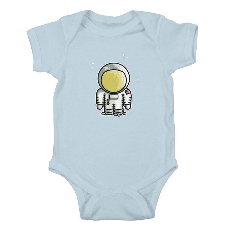 Cute Astronaut Kids Baby Bodysuit by Flaming Imp's Artist Shop